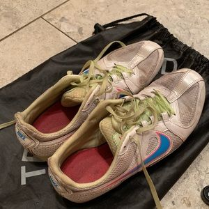 Nike track and field sneakers with spikes